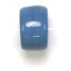 Glass Crow Bead 9mm Opaque Medium Blue
